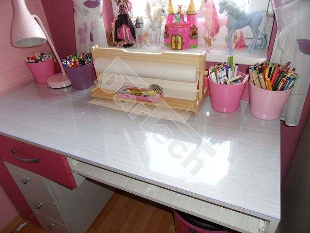 Átlátszó PVC védőlemez íróasztalra